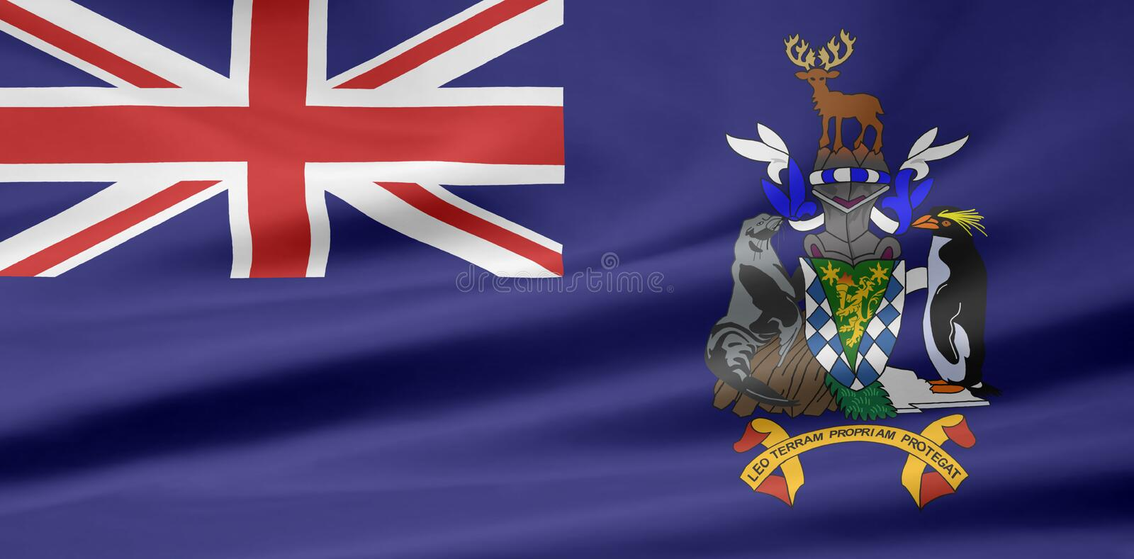 Download Flag Of South Georgia And South Sandwich Islands Royalty Free Stock Photos - Image: 6892518