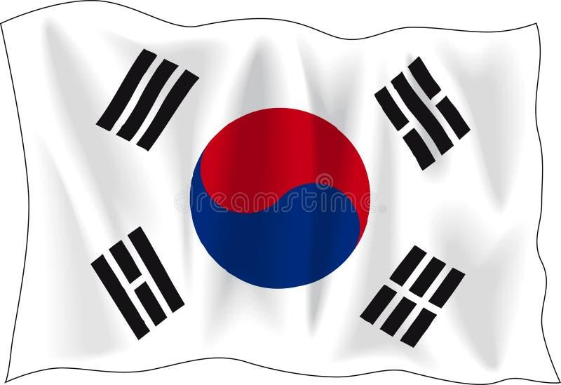 Flag of south Korea royalty free illustration