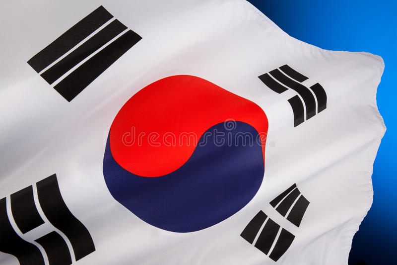 Download Flag of South Korea stock image. Image of travel, flagpole - 34627159