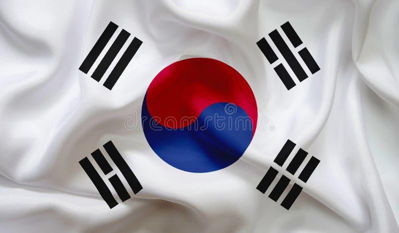 Flag of South Korea texture background stock photos