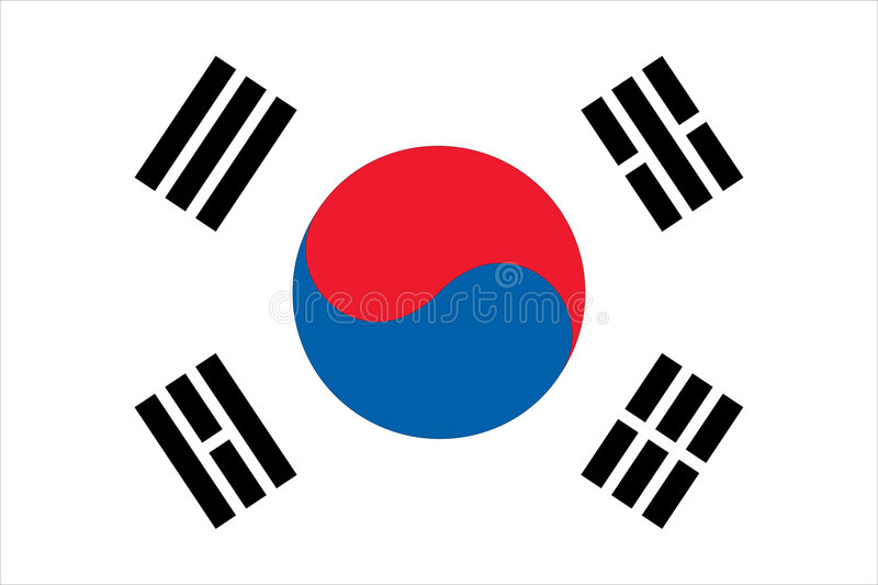 Download Flag of South Korean stock vector. Illustration of sphere - 6894865