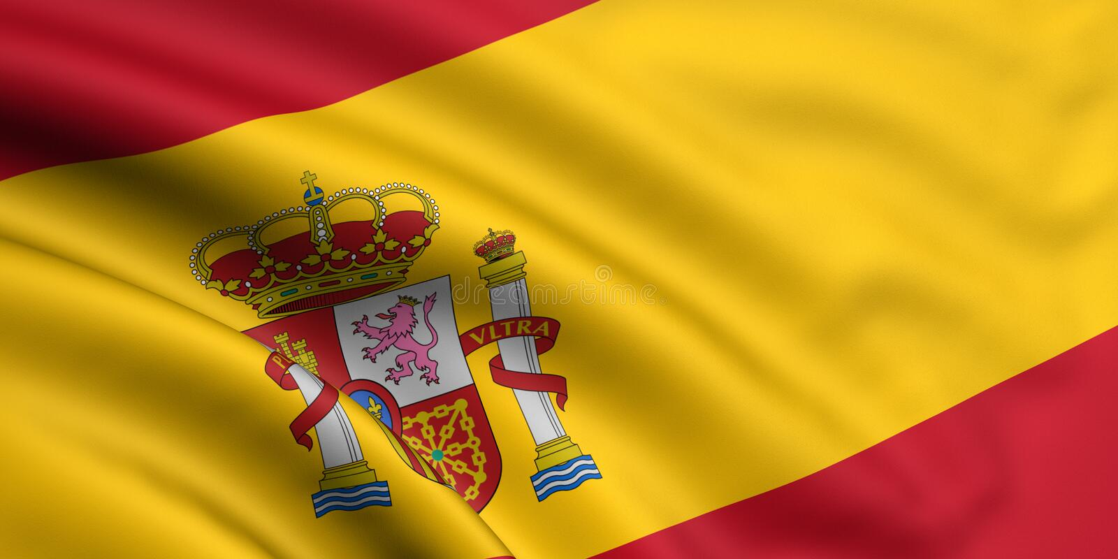 Flag Of Spain royalty free illustration