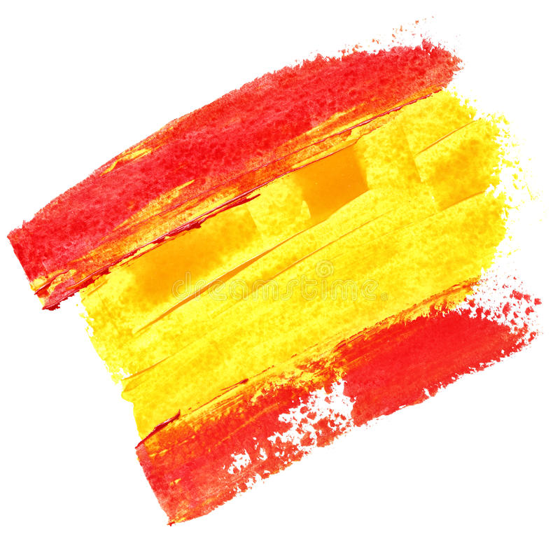 Flag of Spain stock illustration