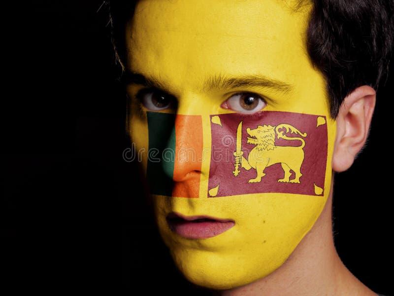 Flag of Sri Lanka royalty free stock photos