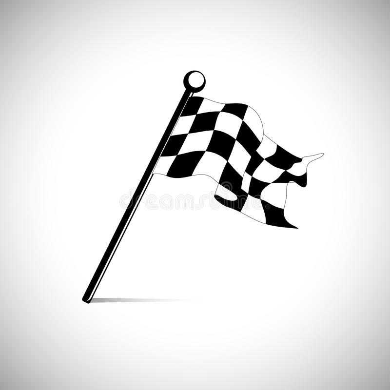 Flag for the start finish line racing royalty free illustration