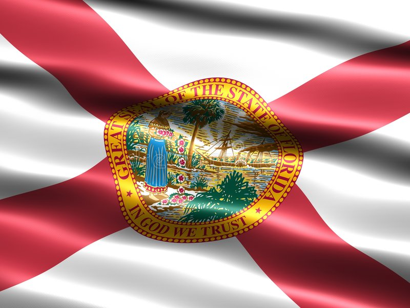 Flag of the state of Florida stock illustration