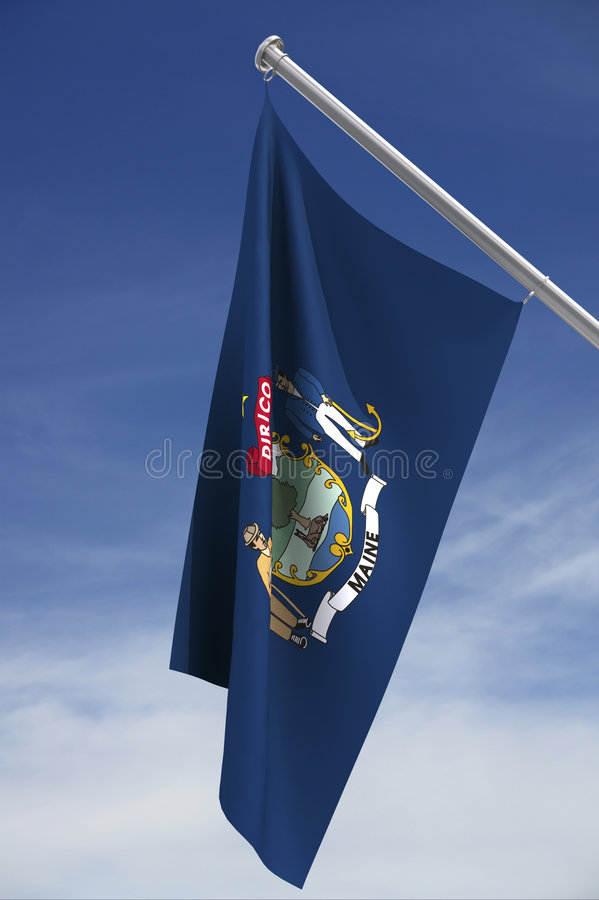 Download Flag of State of Maine stock illustration. Image of america - 3181760
