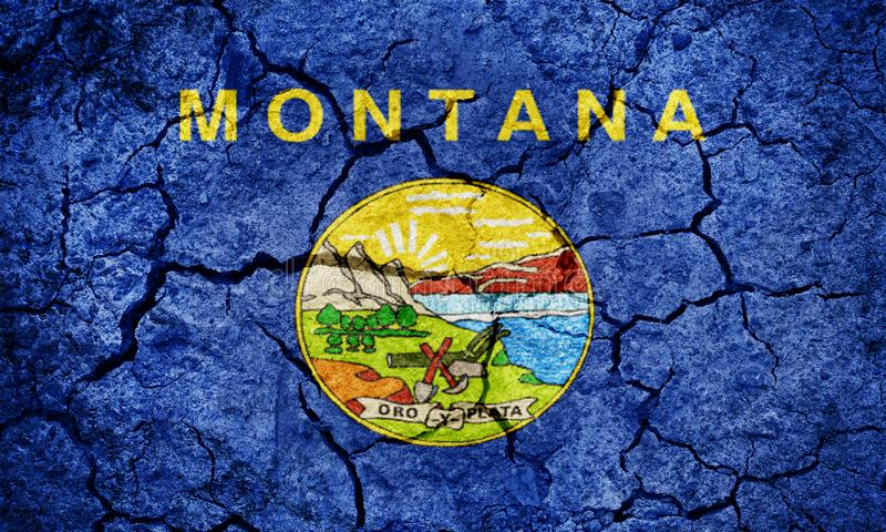 Flag of the state of Montana stock photo