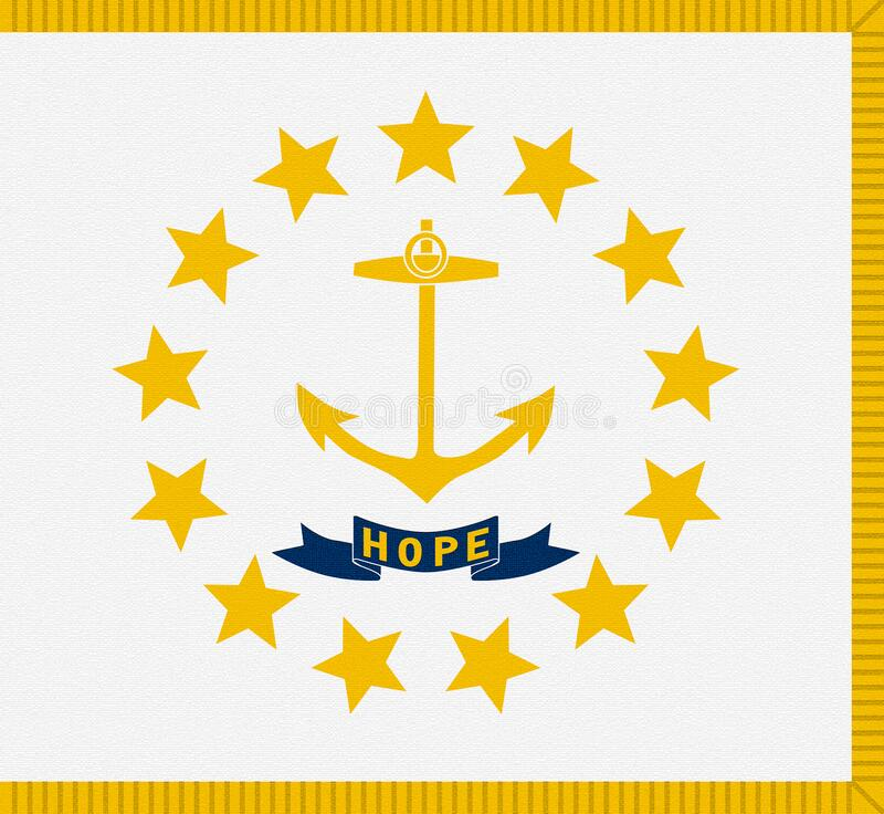 Flag the State of Rhode Island, United States, USA. State of Rhode Island and Providence Plantations.  royalty free illustration