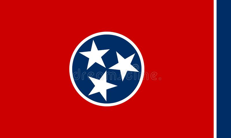 Flag of the State of Tennessee, USA vector illustration