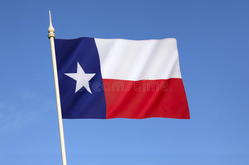 Flag of the State of Texas - United States of America stock photo