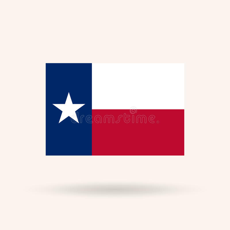 Flag of the state of Texas. USA. Accurate dimensions, proportions and colors. Vector Illustration stock illustration