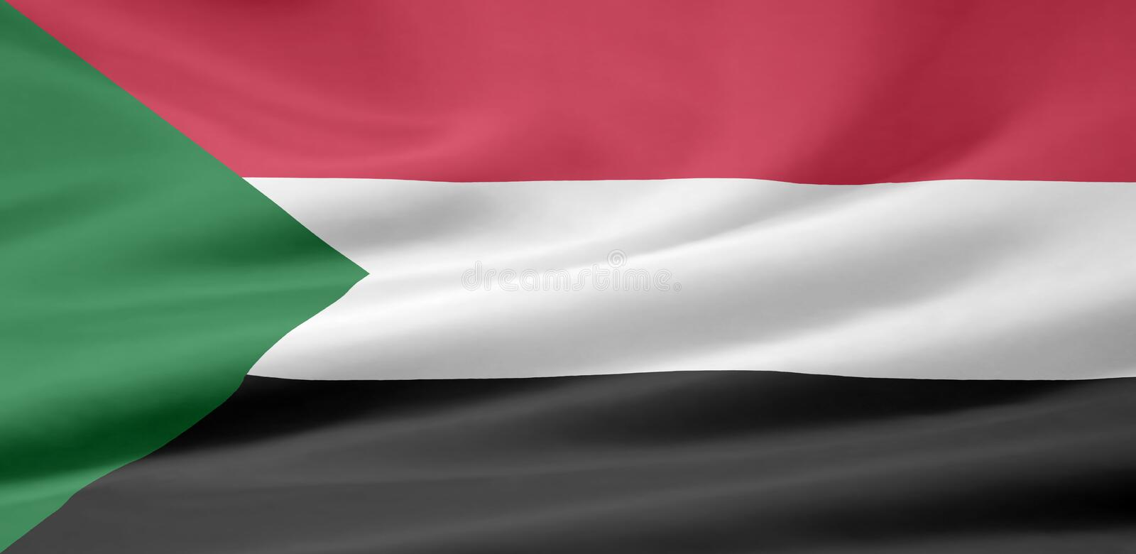 Flag of Sudan stock illustration