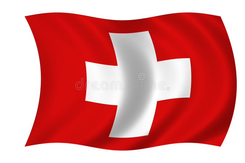 Flag of suisse stock illustration