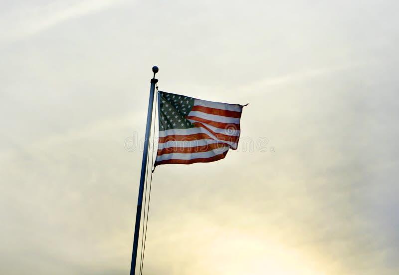 Flag sunset stock image