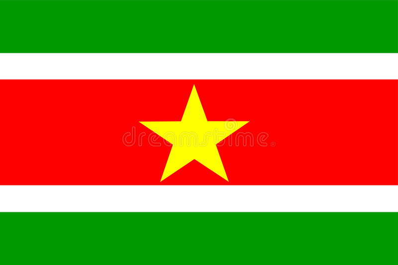 Download Flag of Suriname stock vector. Image of graphic, clipart - 7394004