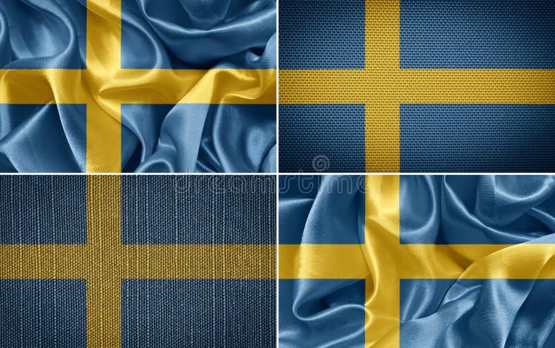 flag svensk royaltyfri illustrationer