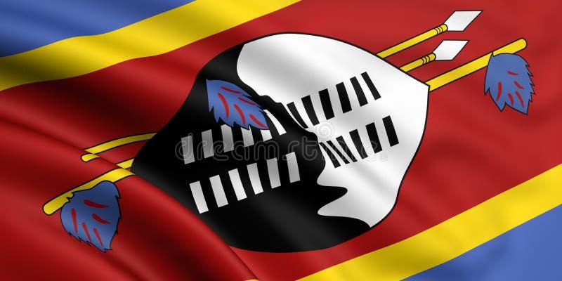 Download Flag Of Swaziland stock illustration. Illustration of wave - 5587300