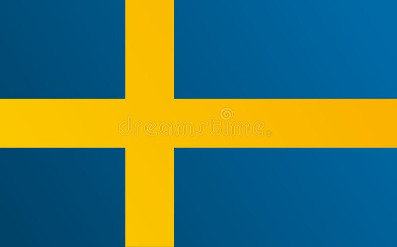 Flag of Sweden with transition color - vector image vector illustration