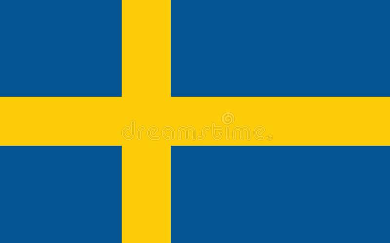 Flag of Sweden vector illustration stock illustration