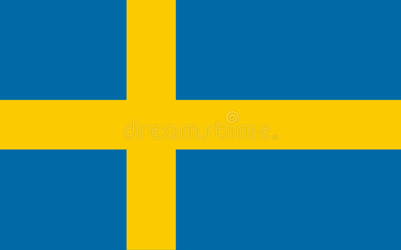 Flag of Sweden royalty free illustration