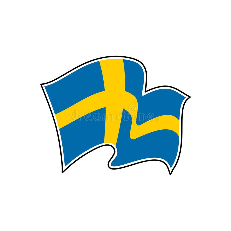 Sweden vector flag. Official flag of Sweden. Stockholm stock illustration