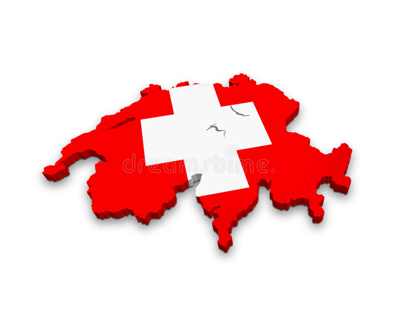 Flag of Switzerland stock illustration