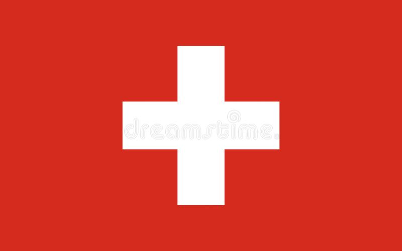 Flag of Switzerland. Officially the Swiss Confederation is a federal republic in Europe royalty free stock photo