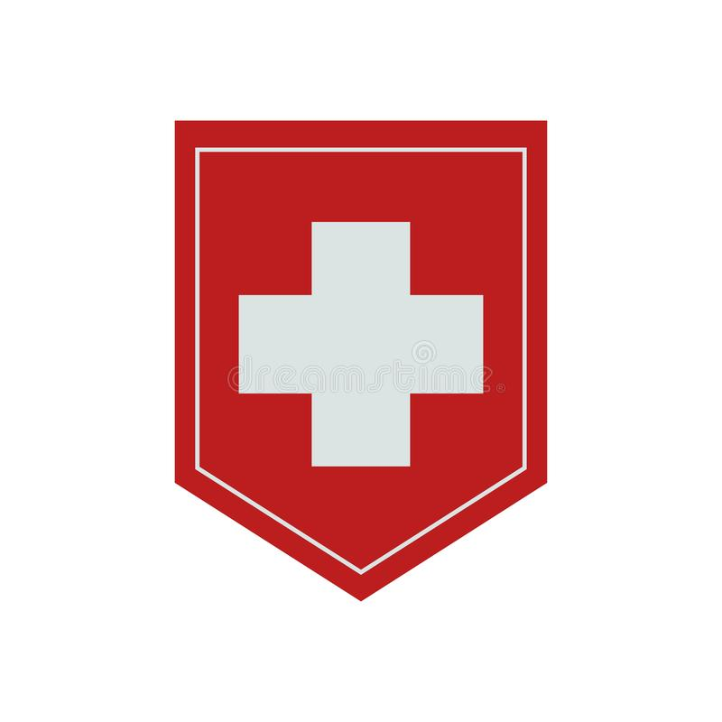 Flag of Switzerland. Vector. Accurate dimensions, royalty free stock photography