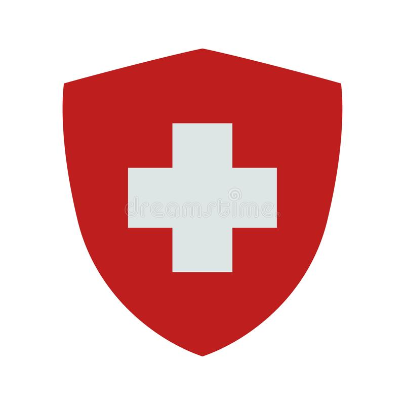 Flag of Switzerland. Vector. Accurate dimensions, stock photography