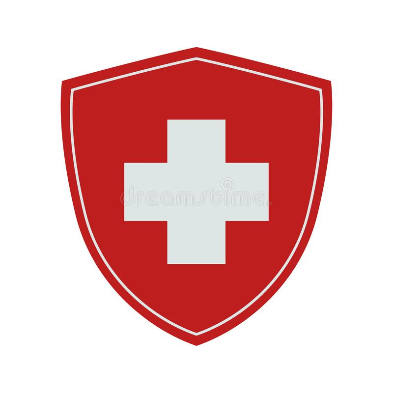 Flag of Switzerland. Vector. Accurate dimensions, royalty free stock images