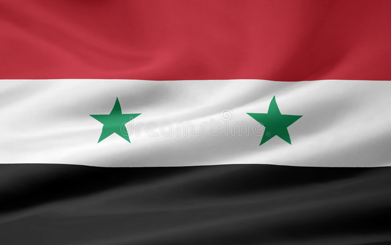 Flag of Syria stock images