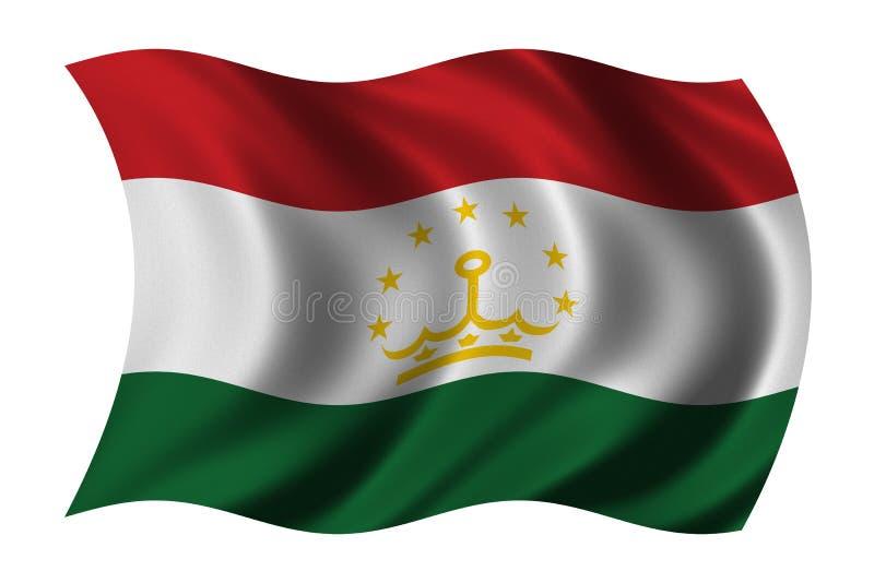 flag tajikistan royaltyfri illustrationer