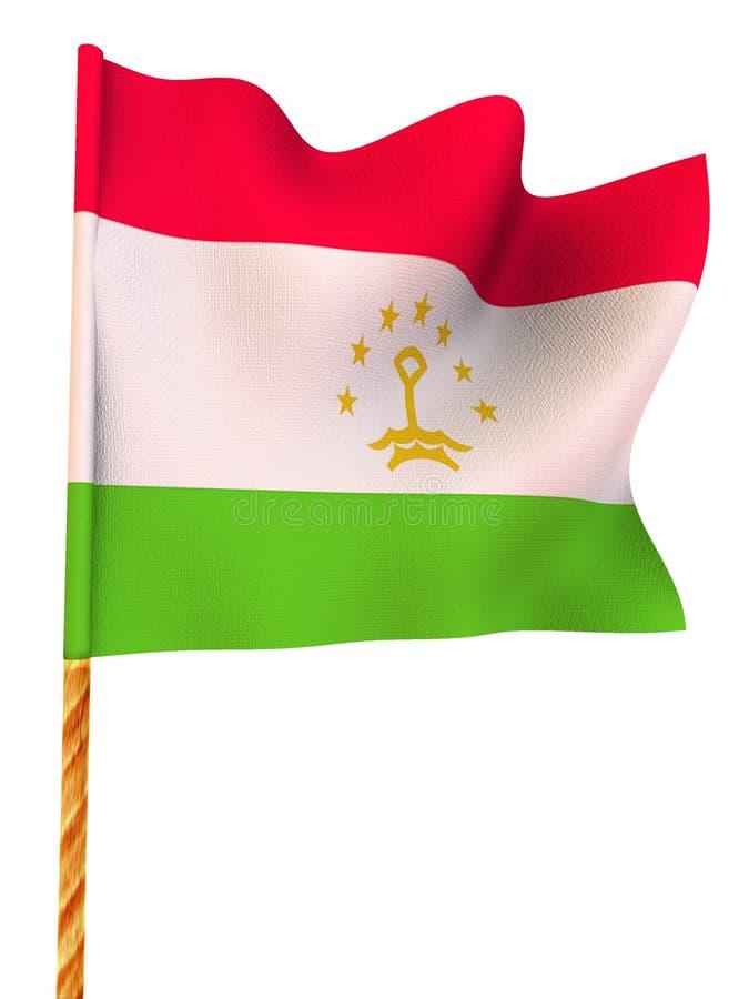Flag. Tajikistan vector illustration