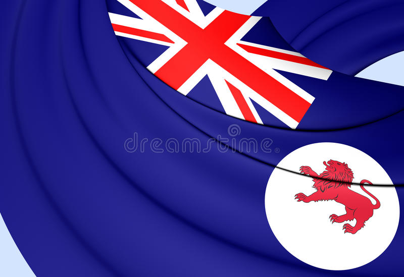 Flag of Tasmania, Australia. Close Up royalty free illustration