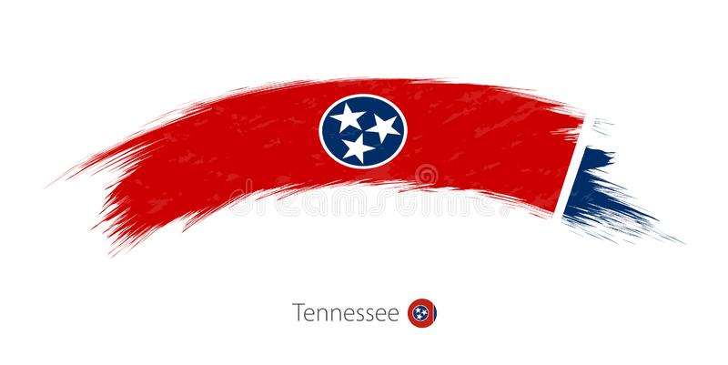 Flag of Tennessee in rounded grunge brush stroke royalty free illustration