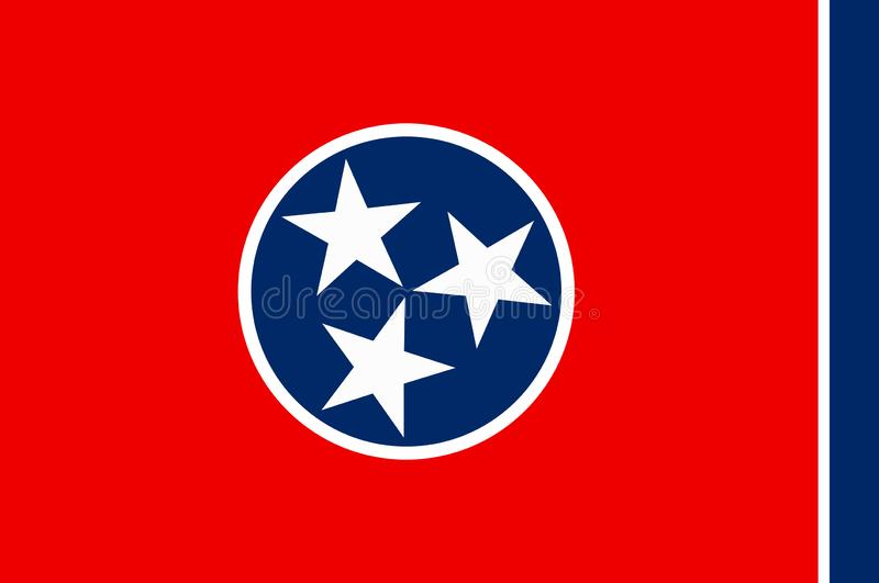 Flag of Tennessee, USA stock images