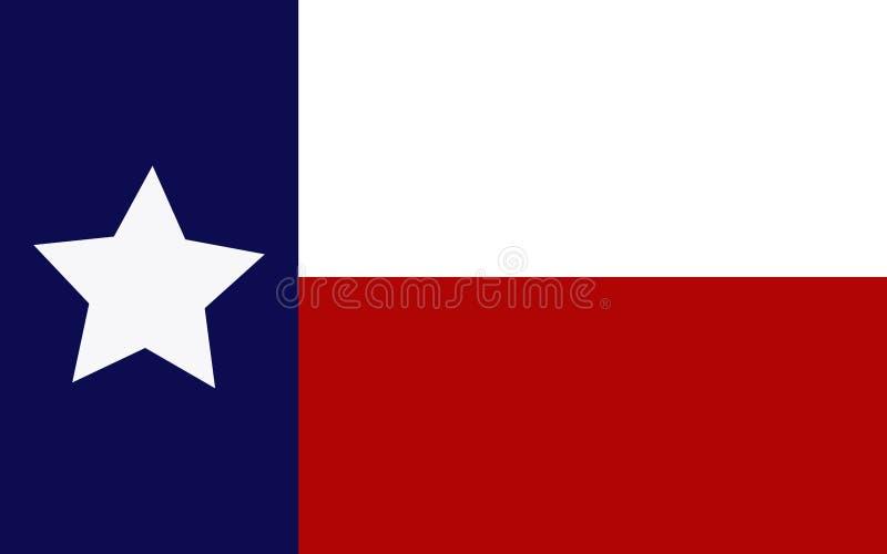 Flag of Texas. Illustration of icon stock illustration