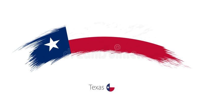 Flag of Texas in rounded grunge brush stroke. Flag of Texas state in rounded grunge brush stroke. Vector illustration royalty free illustration