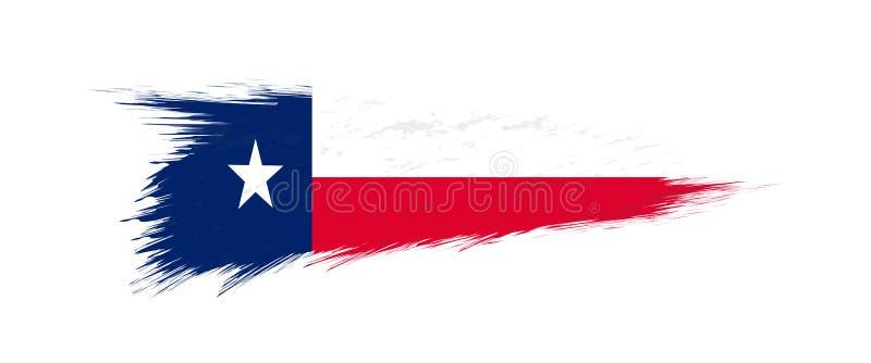 Flag of Texas US State in grunge brush. Stroke, vector grunge illustration vector illustration