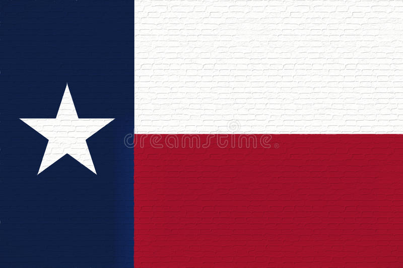 Flag of Texas Wall. Illustration of the flag of Texas state in America looking like it is painted on a wall vector illustration
