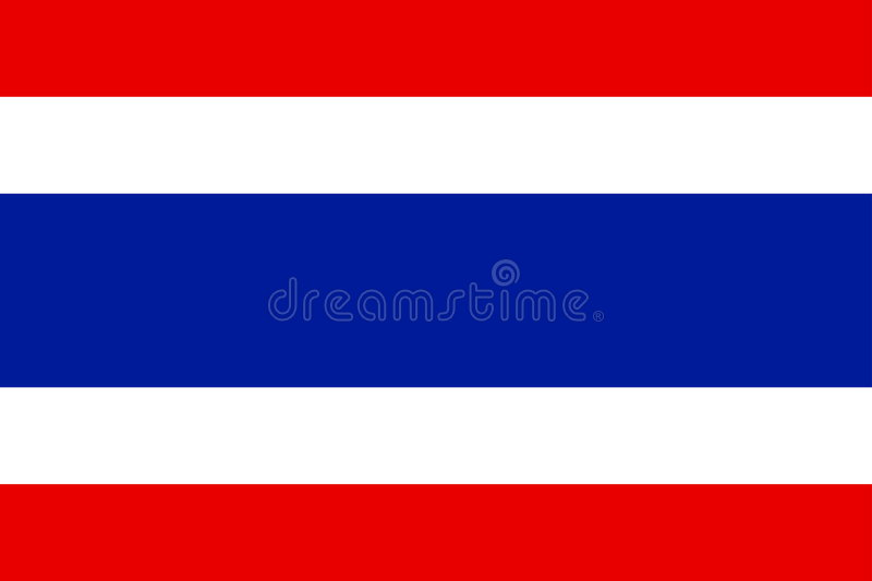 Download Flag of Thailand stock vector. Illustration of thailand - 7393984