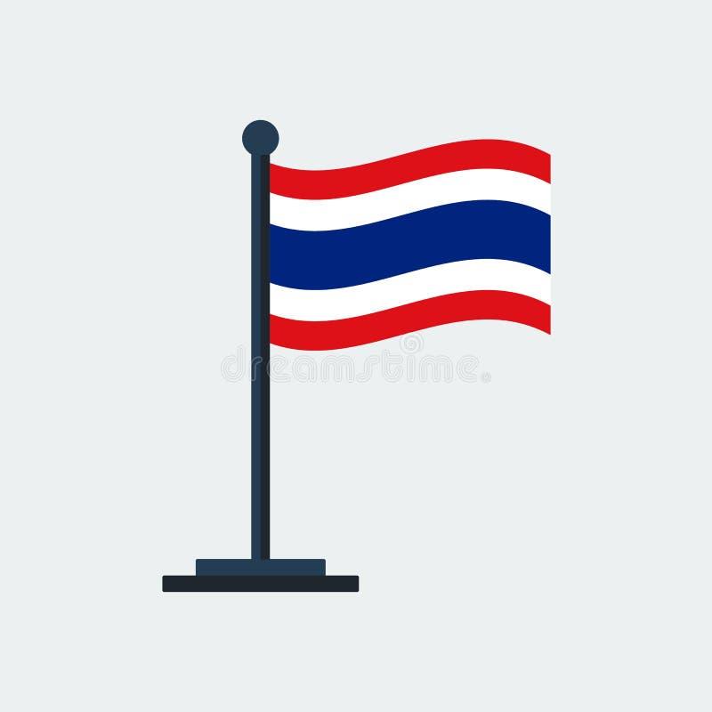 Flag Of Thailand.Flag Stand. Vector Illustration stock illustration