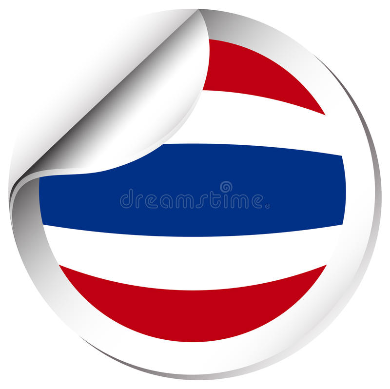 Download flag of thailand in round shape stock vector illustration of thailand sticker