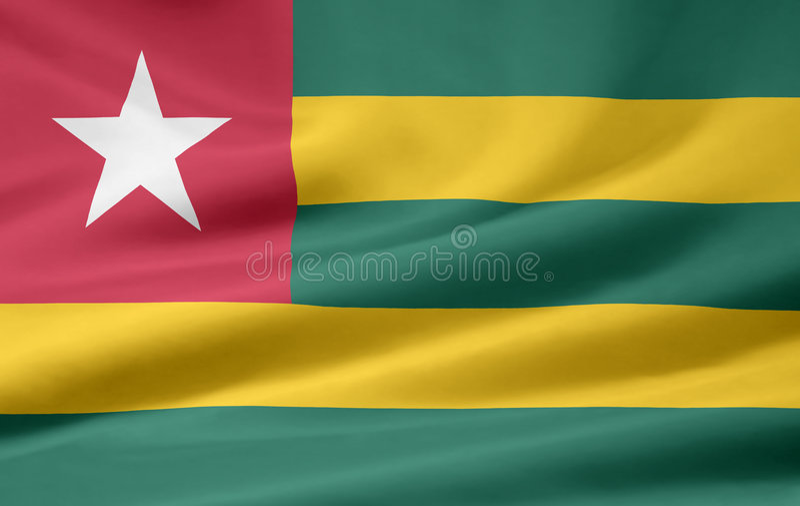 Flag of Togo royalty free stock photo