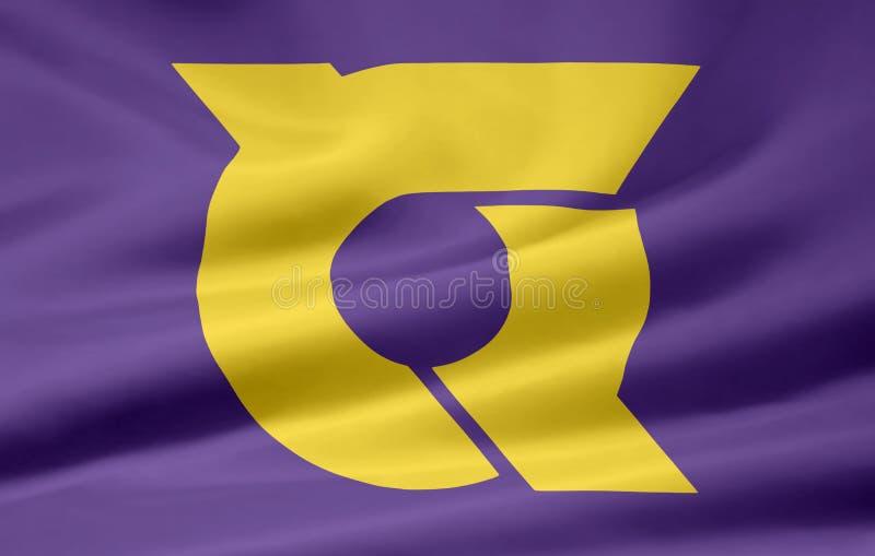 Flag of Tokushima - Japan stock photo