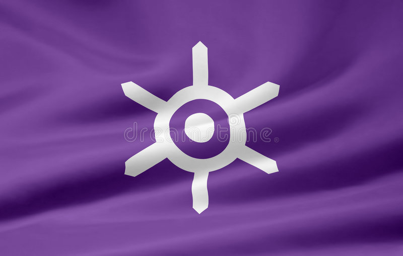 Flag of Tokyo - Japan stock image