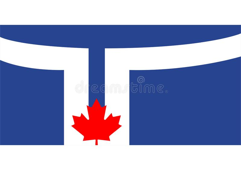 Flag of Toronto. Vector format ai available blue white red vector illustration
