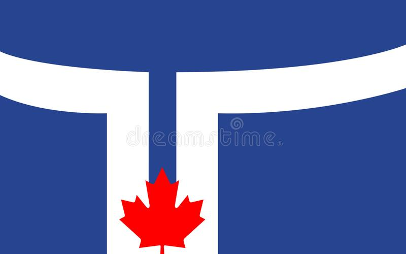 Flag of Toronto in Ontario, Canada royalty free illustration