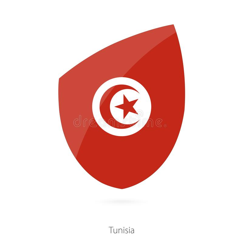 Flag of Tunisia. Tunisian Rugby flag stock illustration